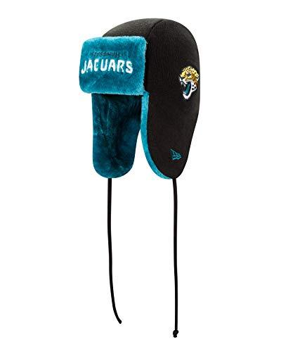 New Era NFL Jacksonville Jaguars Helmet Head Knit Trapper, One Size, black -
