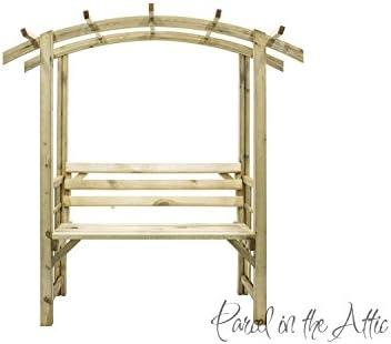 Asiento de Arbour Pergola en madera maciza tratada a presión, con enrejado jardín Muebles de jardín – garantizada para durar, Huelva Arbour: Amazon.es: Hogar