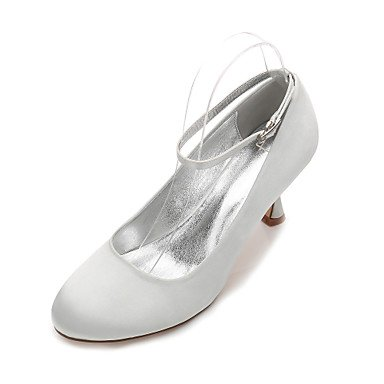 RTRY Rhinestone 5 Bowknot Satin Shoes US7 5 UK5 Heelivory Primavera Plana Azul De Mujeres'S CN38 EU38 Rubí Confort Noche Verano Champán Wedding amp;Amp; Las Boda Vestido pSOnr6qp