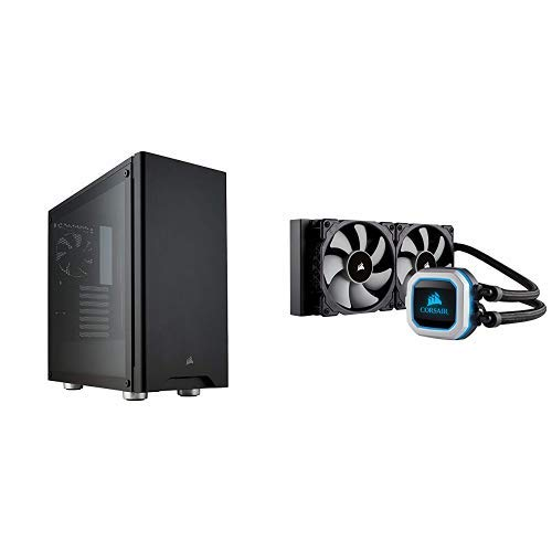 Corsair 275R Tempered Glass Black and H100i Pro Liquid Cooler