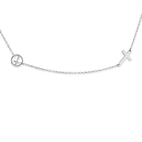 925-sterling-silver-double-sideways-cross-necklace-14-inches