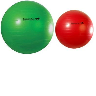 31yCuj ITLL - Jolly Mega Ball (choose from colours red or green) - heavy duty inflATABLE BALLS MADE SPECIFICALLY FOR HORSES.
