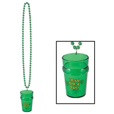 Beads St Pats Glass (Beistle 30593 Beads with St. Pat's Glass, 33-Inch/2-1/2 Ounce)
