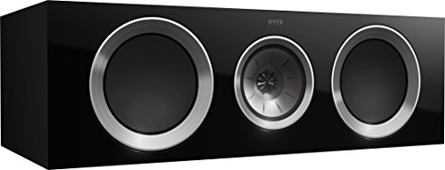 KEF R600c Center Channel Loudspeaker - High Gloss Piano Black (Single) by KEF