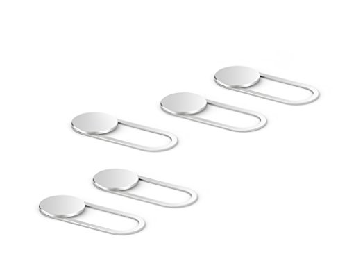 Ultra Thin Metal Webcam Slide Cover 5-Pack Silver Privacy for Your Laptop//Tablet//Smartphone