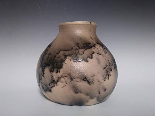 Indian Native Pottery (Horsehair Raku ~ Ceramic Pottery Vase ~ Home Decor ~ Raku Pot ~ Handmade 7 inch tall Pot)