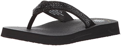 (Yellow Box Women's Soriano Sandal, Black, 9 M US)