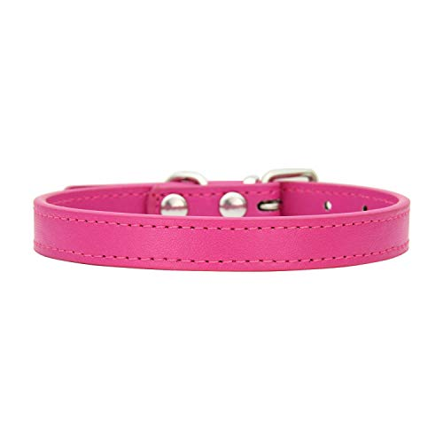 PU Leather XS S M L XL Safety Name Personalized Chihuahua Necklace Small cat Leash cat Harness cat Collar,Burgundy,S