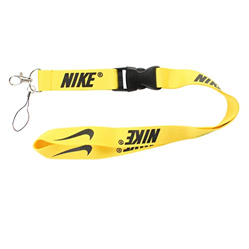 d6a1ccbbc Lanyard Keychain Holder Keychain Key Chain Black Lanyard Clip with Webbing  Strap (Nike Yellow)