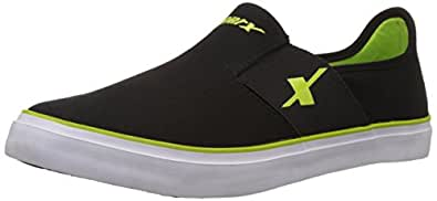 Sparx Men's SM-214 Black and Flourescent Green Sneakers - 6 UK/India (39.33 EU) (SC0214G)