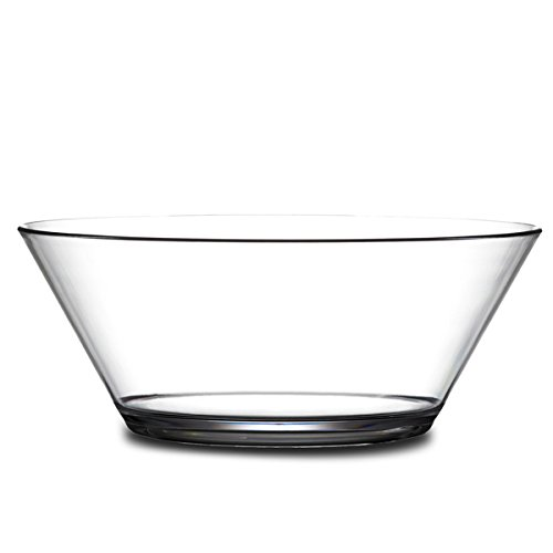 Elite Polycarbonate Serving Bowl 82oz/2.3ltr - Virtually Unbreakable Plastic Bowl for Punch and Trifle
