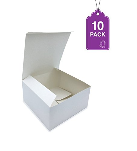 All For Cupcake Gift Boxes White 10 Pack 8 X 8 X 4 Great