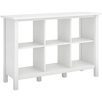 Bush Furniture Broadview 6 Cube Storage Bookcase In Pure White