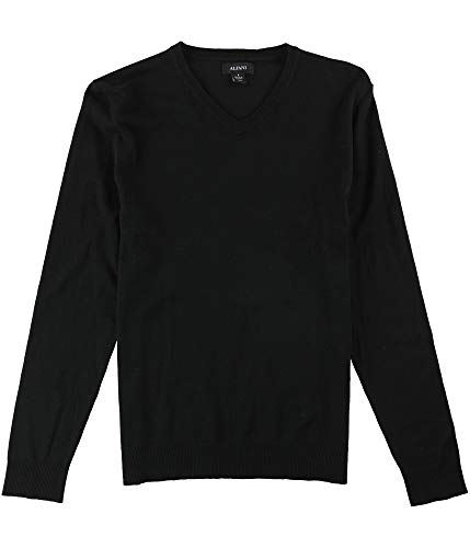 Alfani Mens Knit Long Sleeves Pullover Sweater Black S
