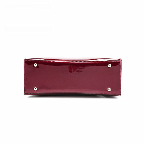 Lacquered Famous Bag Handbags Women Red Tote Bags for Women Designer Brand Lady's Shoulder Leather Patent Bag Luxury Handbag Sac P1wqpHx
