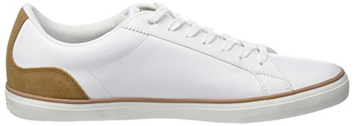 fake cheap online Lacoste Men's Lerond 118 1 Cam Trainers White (Wht/Lt Brw) Manchester for sale CajHfTL