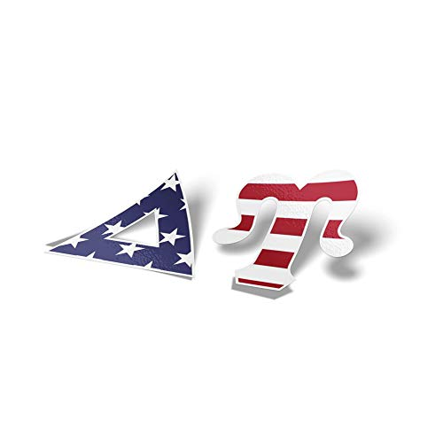 Delta Upsilon Fraternity USA Letter Sticker Decal Greek 2 Inches Tall for Window Laptop Computer Car ()
