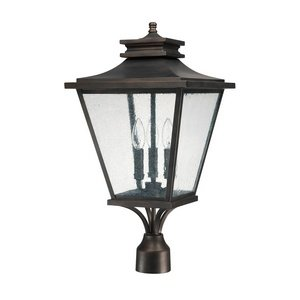 Capital Lighting 9466OB Three Light Outdoor Post Lantern by Capital Lighting