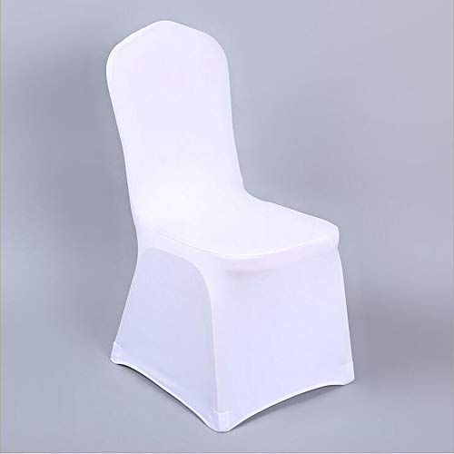 YRYIE Pack of 20 Universal Spandex Stretch Chair Cover for Wedding Ceremony Decoration White ()