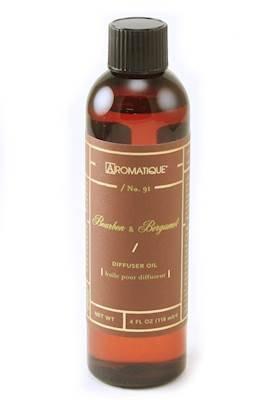 Aromatique BOURBON BERGAMOT Reed and Ceramic Diffuser Oil Re