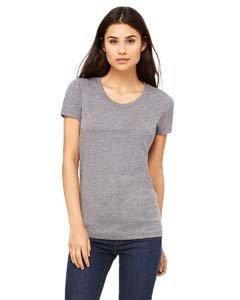 Bella Womens Cameron Tri-Blend Crewneck Short Sleeve T-Shirt - Large - GREY - Womens Tri