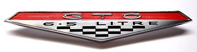(The Parts Place Pontiac GTO 6.5 L Fender Rocker Emblem )