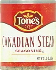 Tone's Mini's Steak Seasoning, Canadian, 1.10 Ounce (Pack of 6) (Canadian Steak)