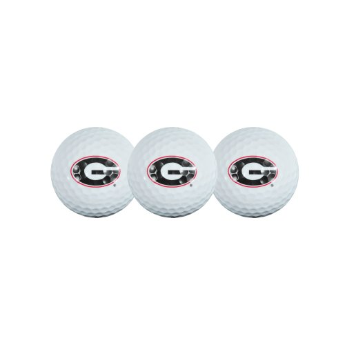 Georgia Bulldogs Golf Ball Pack of 3 (Georgia Bulldogs Balls Golf)