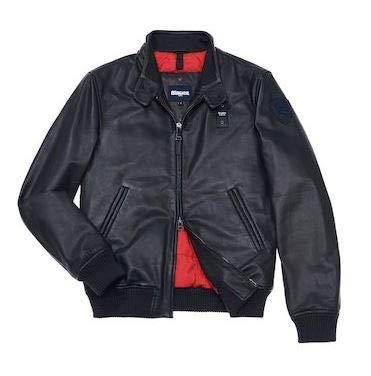 73c63e6db Blauer 18WBLUL01234.005115 999 Nero Leather Jacket Uomo: Amazon.co ...