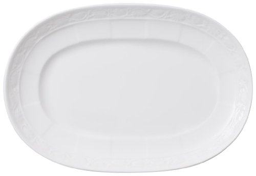 Villeroy and Boch White Pearl Pickle Dish 22cm ()