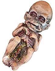 jojofuny Halloween Baby Doll Haunted House Decoration Prop Animated Creepy Zombie Baby Ugly Spooky Scary Ghost Babies Ornament for Indoor Haunted House Scene Layout
