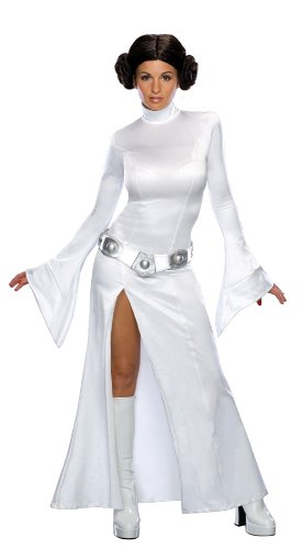 Star Wars Leia Sexy (Secret Wishes Star Wars Sexy Princess Leia Costume, White, L (10))