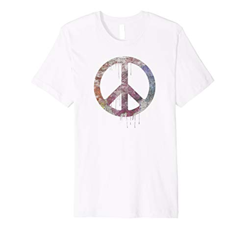 Distressed Watercolor Peace Sign t-shirt, vintage, hippie (Peace Sign Distressed)