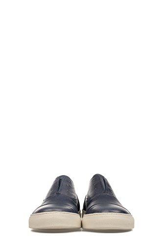 Docksteps Hombre DSE103389 Azul Cuero Zapatillas Slip-On