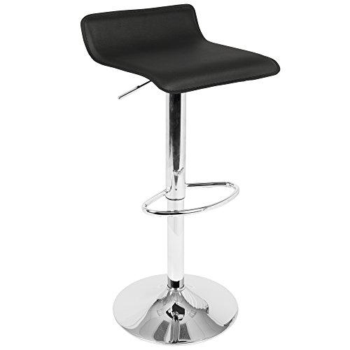 OKSLO Ale contemporary adjustable barstool in faux leather by - set of 2