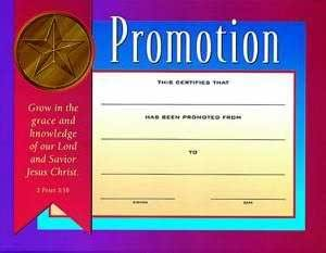 amazoncom certificate of promotion childrens 6 pack