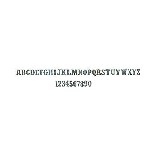 rative Strip Die By Tim Holtz-Vintage Market Alphabet 12.625x2.375 (Vintage Market Alphabet)