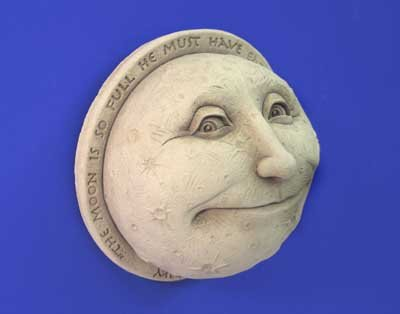 A Childs View of the Moon Wall Plaque