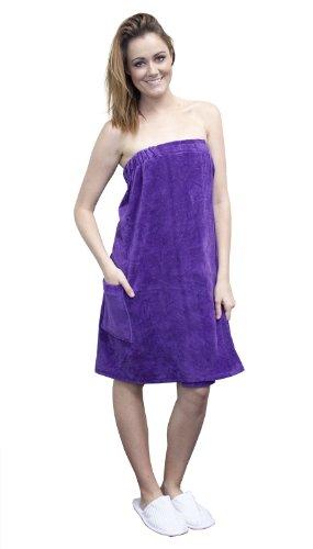 Wrap 100% Cotton Terry (Terry Velour Bath Wrap Women's 100% Cotton Spa Beach Pool Shower)