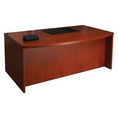 Mira Series Wood Veneer Bow Front Executive Desk Finish: Medium - Desk Bow Executive Front