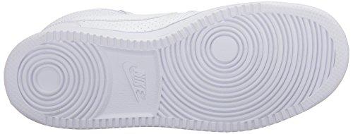 Borough Corte Maglietta Nike Metà Scarpe Da Basket Bianche