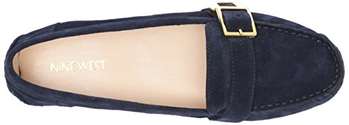 Negen West-womens Blueberry Navy Suede