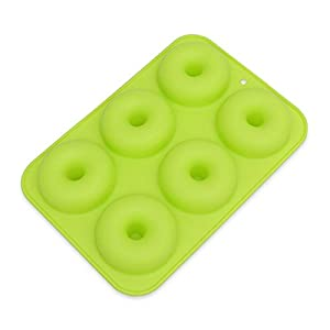 1 piece OLOEY 6 Cavity Non-Stick Donut Mould DIY Cake Silicone Doughnut Bakeware Mold Safe Baking Tray Maker For Biscuit Bagels Muffins