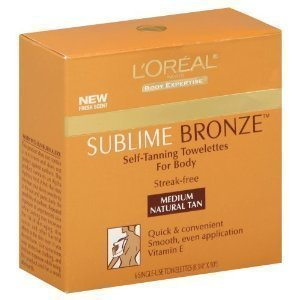 Loreal Sublime Bronze Self Tanning Towelettes - L'Oreal Paris Sublime Bronze Self-Tanning Body Towelettes, 6-Count (Pack of 2)