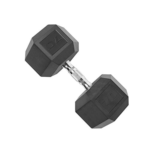 CAP Coated Hex Dumbbell Weights (70lb Dumbbell)