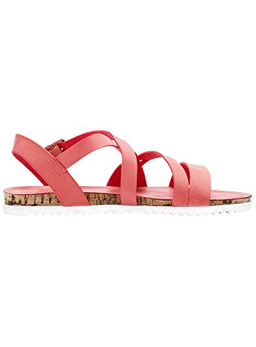 Ecopelle Rosso Sandali Basic Ultra oodji Donna 4500n in UXgYWqn