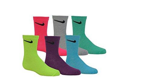 Nike Multi- Color Toddler Girls Socks Size 5-6 US Shoe Size 9C-13C