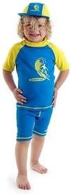 Boys Size 2 Blue//Yellow Sun UV Protective Rash Guard Swimsuit Swim Shirt /& Pants SPF+50 Swim Suit for Kids Age 2 Years Old
