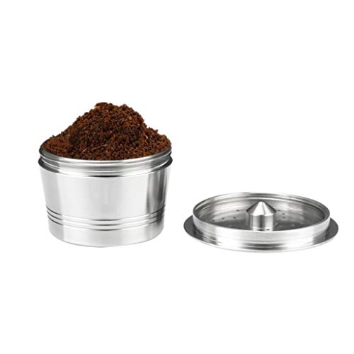 Maikouhai Stainless Steel Coffee Filter Make Reusable Coffee Capsule For Caffitaly - Mouth Width 46mm, Height 27mm, Capacity 10-15ml ()