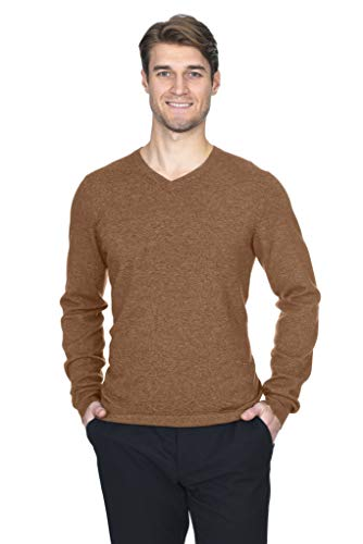 State Fusio Men's Cashmere Wool Long Sleeve Pullover V Neck Sweater Premium Quality ()